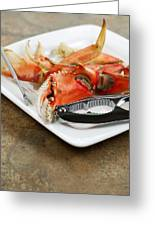 Cooked Crab Ready To Eat  Greeting Card