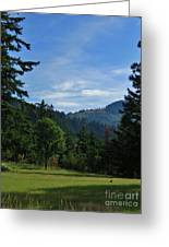 View Of Underwood Mountain Greeting Card