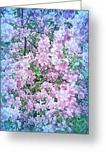 Cool Blue Apple Blossoms Greeting Card
