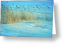 Cool Blue Blowing In The Wind Greeting Card