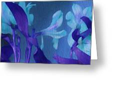 Cool Blue Lilies Greeting Card
