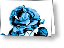 Cool Blue Rose Greeting Card