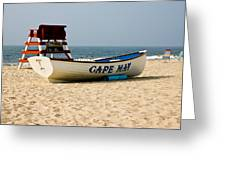 Cool Cape May Beach Greeting Card