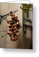 Cool Copper Pots - Parisian Restaurant Left Bank La Rive Gauche Greeting Card