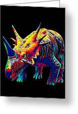 Cool Dinosaur Color Designed Creature Greeting Card