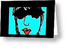 Cool Girl Derivative Greeting Card