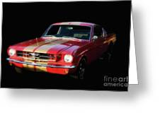 Cool Mustang Greeting Card