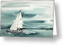 Cool Sail Greeting Card