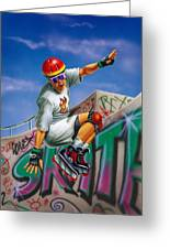Cool Skater Greeting Card