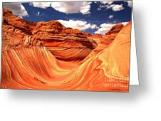 Cool Spring Day At The Wave Greeting Card