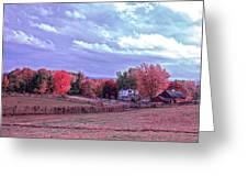 Cool Sunset Autumn Farm Greeting Card
