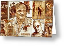 Cool Tarantino Poster Greeting Card