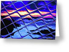 Cool Tile Reflection Greeting Card