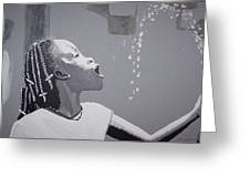 Cool Water Greeting Card by Otis L Stanley