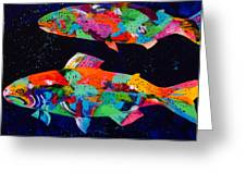 Cool Waters Greeting Card by Tracy Miller