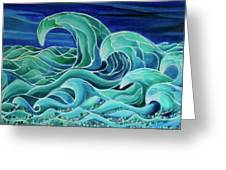 Cool Waves 3-  Greeting Card