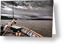 Cool Winds On The Hudson Greeting Card