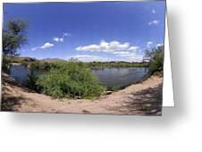 Coons Bluff Salt River Arizona Greeting Card