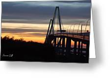 Cooper River Bridge - Charleston Sc Greeting Card