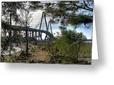 Cooper River Bridge Afternoon Greeting Card