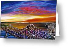 Cooper River Bridge Greeting Card by James Christopher Hill