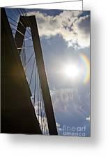 Cooper River Bridge Lens Flair Greeting Card