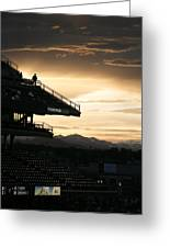 Coors Field At Sunset Greeting Card