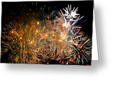 Coors Field Fireworks 3 Greeting Card