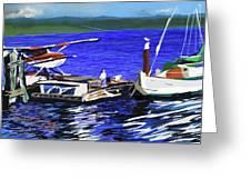Coos Bay Dockside  Greeting Card