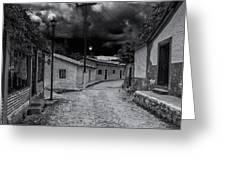 Copala Cobblestone Street Greeting Card