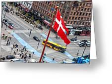 Copenhagen Downtown Traffic Greeting Card