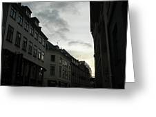 Copenhagen Facades In Shades Of Grey Greeting Card