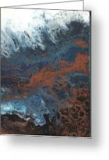 Copper Abstract 2 Greeting Card