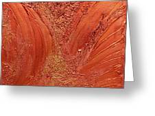 Copper Abstract Greeting Card