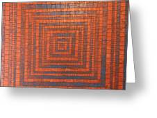 Copper And Cerulean Crack Greeting Card