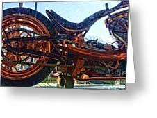 Copper Bike Ny Centennial Statue Of Liberty Ny Greeting Card