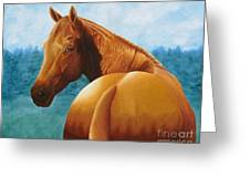 Copper Bottom - Quarter Horse Greeting Card