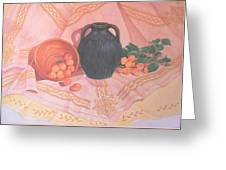 Copper Bronze And Apricots Greeting Card