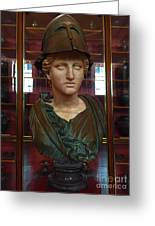 Copper Bust In Rome Greeting Card