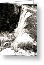 Copper Canyon Along The Falls Edge Greeting Card