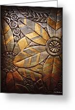 Copper Design Greeting Card