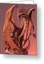 Copper Dragon Greeting Card