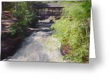 Copper Falls State Park Wisconsin. Greeting Card