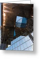 Copper Glass And Steel Geometry - Fabulous Modern Architecture In London U K Greeting Card