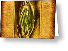 Green Copper Greeting Card