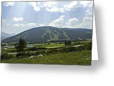 Copper Mountain Ski Area - Copper Mountain Colorado Greeting Card