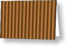 Copper Orange Striped Pattern Design Greeting Card