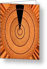 Copper Panel Abstract Greeting Card