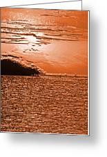 Copper Plate Sunrise Greeting Card