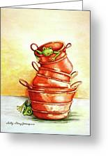 Copper Pots Greeting Card